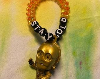 C3PO Stay Gold kandi bracelet