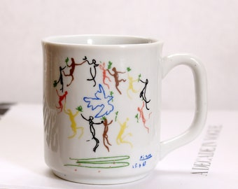 vintage Picasso coffee mug, The Dance of Youth by Pablo Picasso