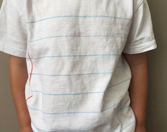 Children's Notebook Paper Shirt, stocking stuffer, Christmas gift, back to school, teacher gift