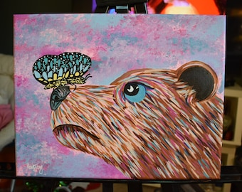 Butterfly and a Bear Painting