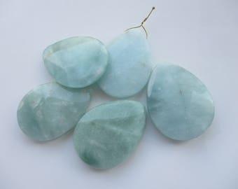 Blue Green Aventurine Faceted Pear Briolette Pendant Stone Drop 1Pc.