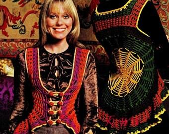 Crochet Web Vest Pattern - PDF Pattern - INSTANT DOWNLOAD