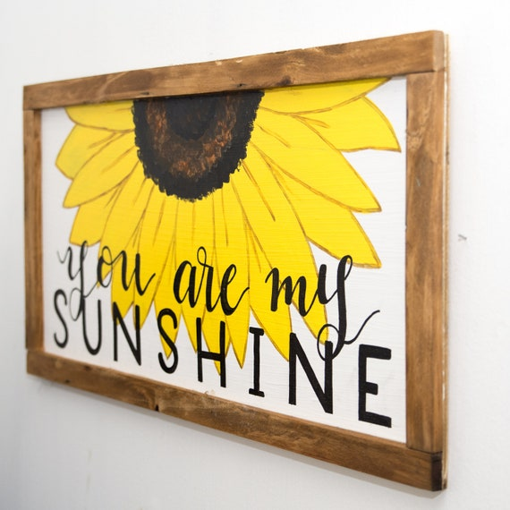 You are my sunshine wall art Spring wall decor Sunflower decor