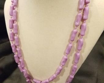 Vintage lavender bead necklace