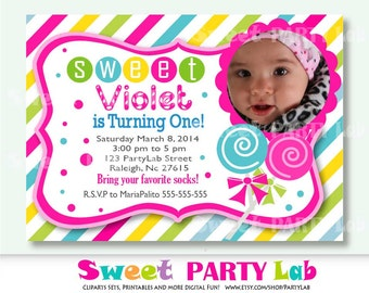 Candyland Invitation Use for Birthday Baby Shower Birth