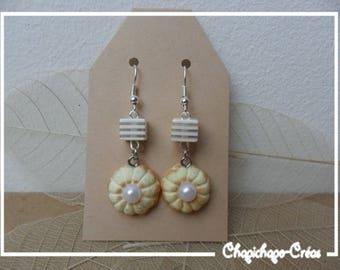 Gourmet Cookies earrings pearls Fimo