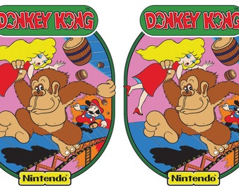 Donkey Kong Arcade Cabinet Graphics For Reproduction Side Art