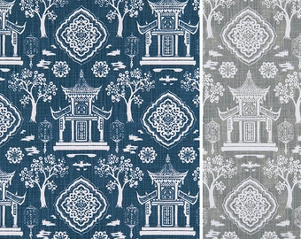Toile Table Runner - Premier Prints Spirit Collection - Asian Table Runner - Made to Order in 8 Lengths - Long Table Runner