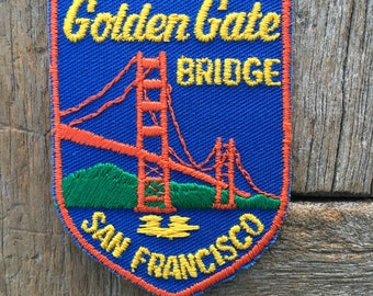 Golden Gate Bridge San Francisco Vintage Travel Patch