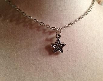 Star Necklace - Silver Jewelry - Pendant Jewellery - Children - Girls - Chain