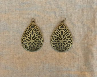 Bronze statement earrings