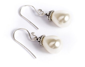 Fresh Water Pearl Gemstone Sterling Silver Earrings Jewellery Free UK Delivery Gift Boxed