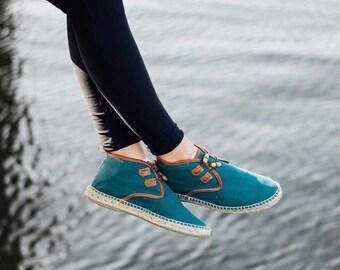MARINA ASPAS | Handmade Vegan Espadrille Chukka Boots for Women