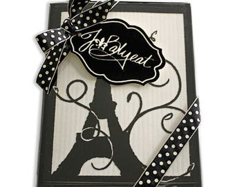 French Note Cards - Eiffel Tower - Note Cards - Boxed Set of 8