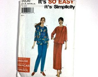 It's So Easy, It's Simplicity 9536, Women's Skirt, Pants and Knit Top Pattern, Size XS - XL, Uncut Pattern