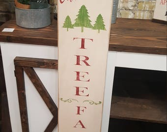 Tall Porch Sign Christmas Tree Farm Stencil ONLY