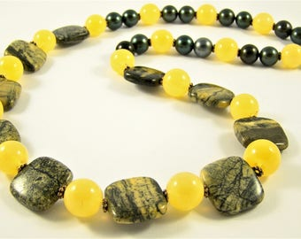 "Decoration from green jasper ""Solar wind of forests"""