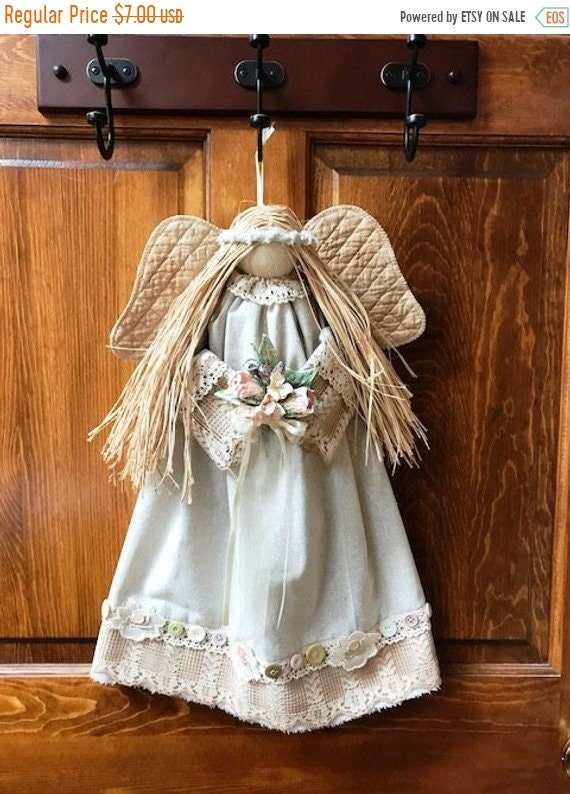 """ON SALE E-Pattern Joie 20"""" Hanging Country Victorian Angel Pattern Fh-174"""