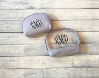 Personalized Cosmetic Case - Lilac 2 pc Set