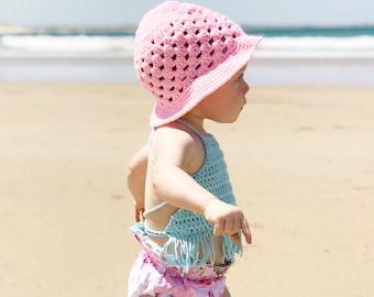 Pink Bucket Hat, Crochet Hat