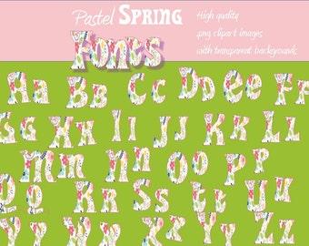 Floral Font image alphabet package