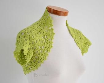 Crochet shrug, bolero, Lime green, cotton, lace, Size XS/S,  K21