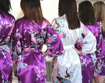 INDIVIDUALLY PACKAGED Bridesmaid Gifts, Bridesmaid Robes, Getting Ready, Floral Kimono Robes, Bridesmaid Robe, Bridal Robe, Wedding Robe