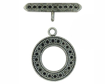 4 Sets Silver Toggle Clasp Wholesale 30x25mm by TIJC SPT008