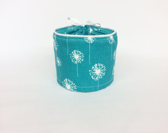 Farmhouse Decor  Bathroom Decor, Spring Decor, Bathroom Storage, Turquoise, Dandelion, Toilet Paper Cover, Bathroom Accessories,