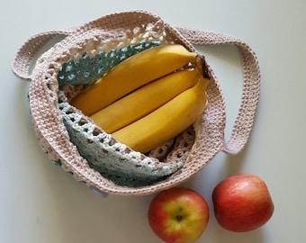 Market String Bag, Ecofriendly Crochet Bag, Reusable Shopping Bag, Zero Waste, Soft Bag, Grocery Tote, Foldable Bag, Shoulder Bag, Handmade