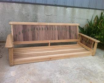 Oak Porch Swing with Walnut lath (unfinished)