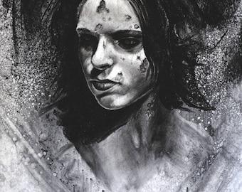 Morgan- Orignal Charcoal Artwork
