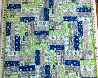 Boy's Baby Quilt, Owls and Stars