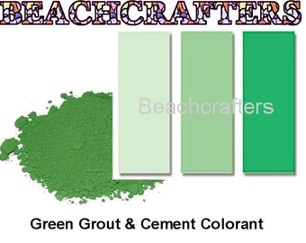 GREEN  Colorant for Grout or Cement -3 OZ, great to use with my mosaic tiles