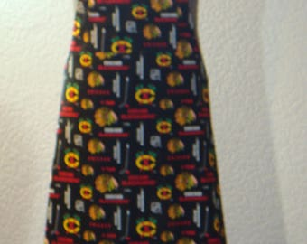 Men's Chicago Blackhawks Hockey Print Full Butcher Style Apron