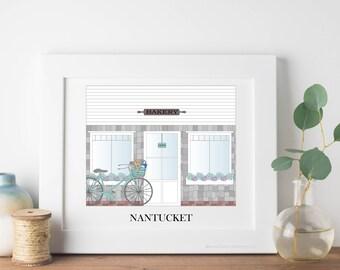 Nantucket Travel Art Print - Bakery