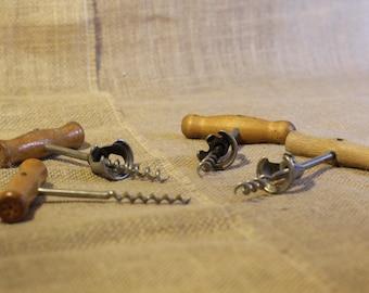 Vintage Corkscrews, Wood Handles