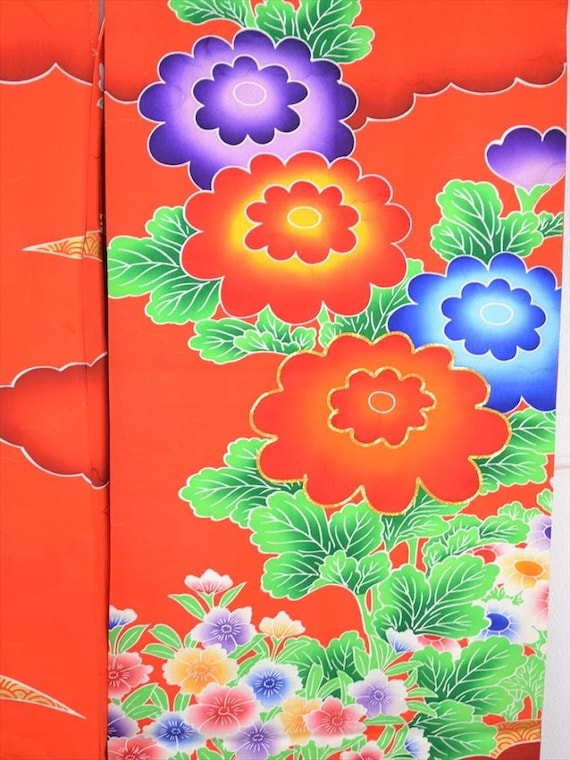 Colourful L31a Embroidered FURISODE Chrysanthemum L31a Colourful FURISODE Embroidered In5q5rpa