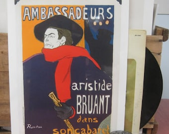Toulouse-Lautrec. Ambassadeurs, Aristide Bruant Vintage Poster -  - c.1960s