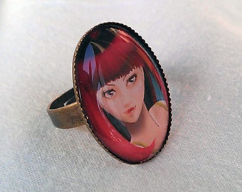 "Adjustable Ring ""Norma"""