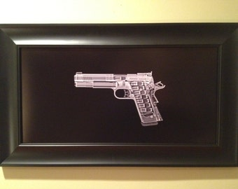 1911 pistol CAT scan - ready to frame