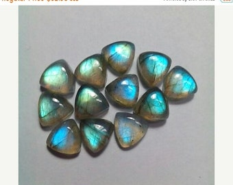 61% OFF SALE 5 Pcs. Labraborite Triangular Shape Cabochons 8 MM