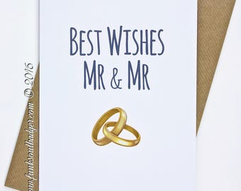 Gay Wedding Card Wedding Mr & Mr