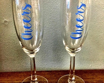 CHEERS champagne flute set