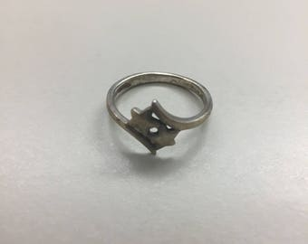 Sterling silver double star ring, size 7.5, weight 2.5 grams