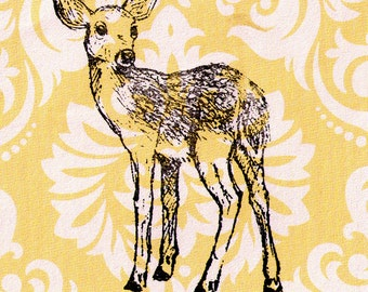 Fawn Stamp: Wood Mounted Rubber Stamp
