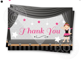 Dance Recital Printable Party Thank You Card - Printable Thank You - Print Your Own Thank You- Dance Recital Party Thank You