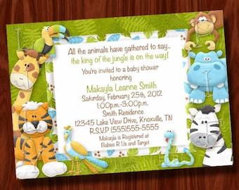 Jungle Baby Shower Invitation (Printable Digital File)