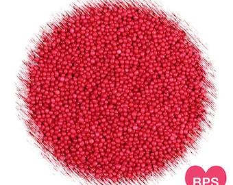 Red Nonpareil Sprinkles, Red Sprinkles, Christmas Sprinkles, Edible Sprinkles, Red Nonpareils, Christmas Nonpareils, Cookie Sprinkles