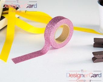 Pink Glitter Sparkling Design Washi Tape Masking Tape
